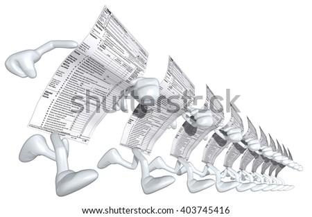 1040 Tax Man 3D Illustration - stock photo