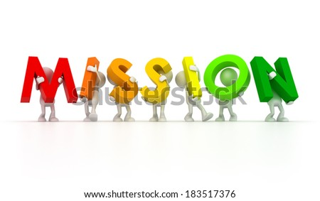 Team forming Mission word - stock photo