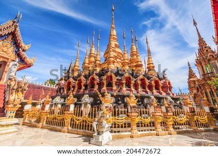 Temple Wat Phra Mongkol Kiri, Phrae Province, Thailand - stock photo