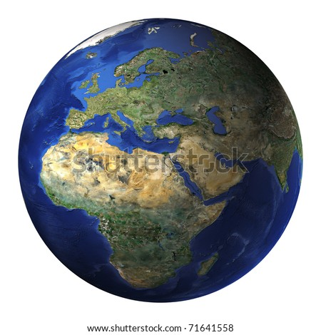 Terrestrial globe - stock photo