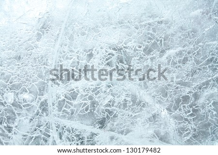 Texture of  ice. - stock photo