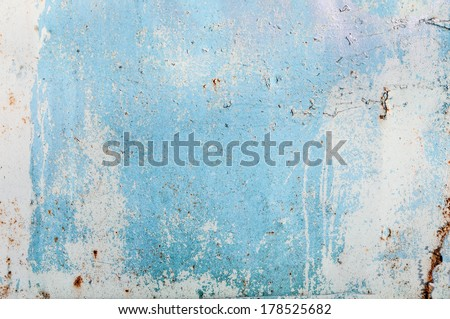 texture of the old hardware with blue and white paint - stock photo