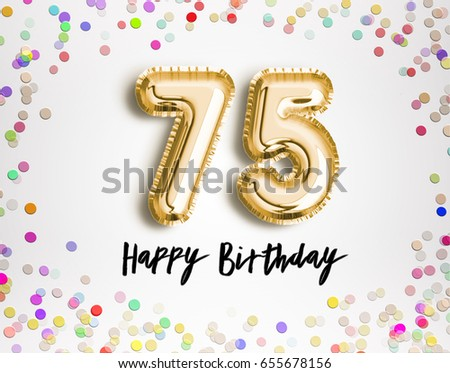 Happy75thbirthday Images RoyaltyFree Images Vectors – 75 Birthday Card