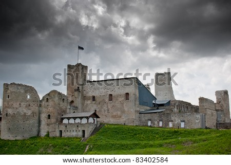 14Th century Castle before the storm