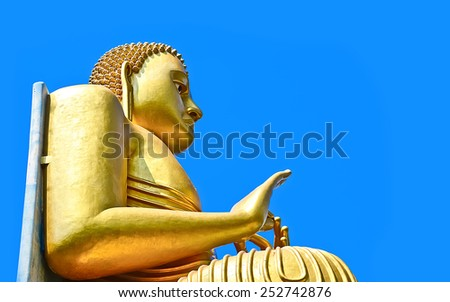 5th Century Dambulla Cave Golden Temple And Statues. Dambulla Cave Golden Temple Is The Largest And Best-Preserved Cave Temple Complex In Sri Lanka - stock photo