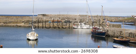 16th Century Harbour, Portsoy, Scotland - stock photo