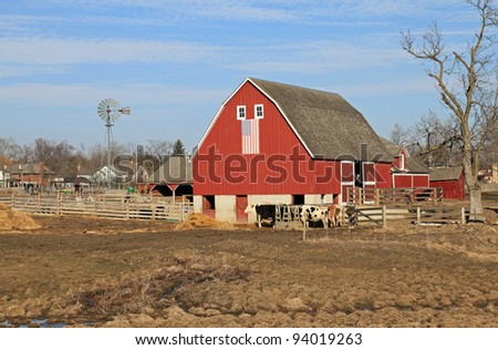 20th century restored working farm and barn in the midwest