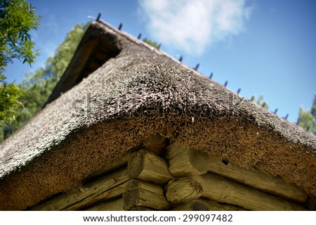 18th-century rural/fishing village house / farmyard - stock photo