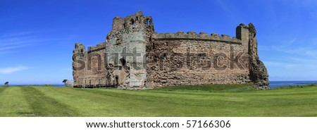 14th century tantallon castle at the mouth of the firth of forth in east lothian scotland destroyed in the english civil war in 1651