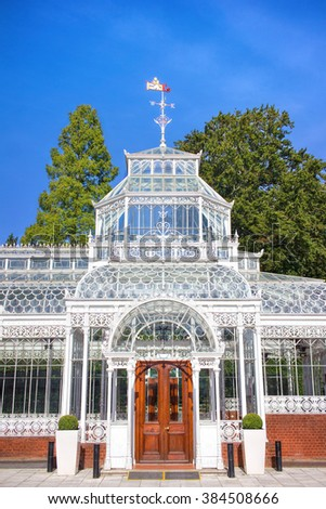 19th Century Victorian Conservatory Greenhouse - stock photo