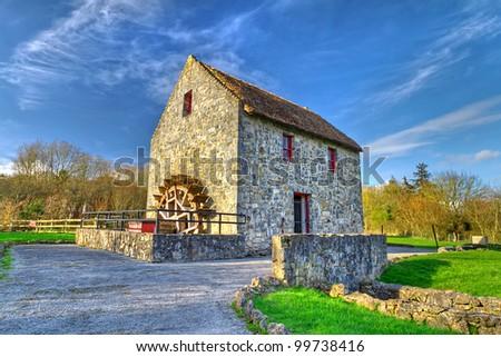 19th century watermill in Co. Clare, Ireland - stock photo