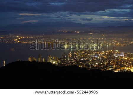 8th Dec 2014 dawn hour and sunrise view and sightseeing at Penang Hill