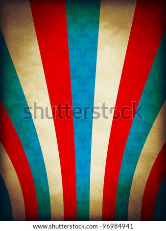4th July Design Vintage Poster - stock photo