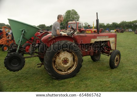 29th May 2017- A vintage Mc Cormick tractor being displayed at the Teifi Valley vintage show near Newcastle Emlyn, Ceredigion, Wales, UK.