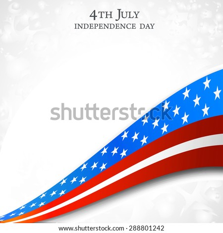 4th of July, American Independence Day celebration background - stock photo