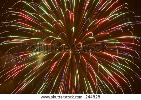 4th of July fireworks. - stock photo