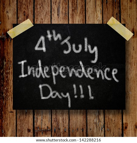 4th of July independence day note paper - stock photo
