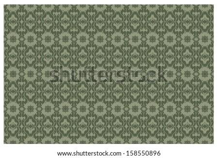 Thai art background, seamless pattern - stock photo