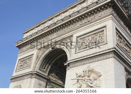 The arch of Victory in Paris France, - stock photo