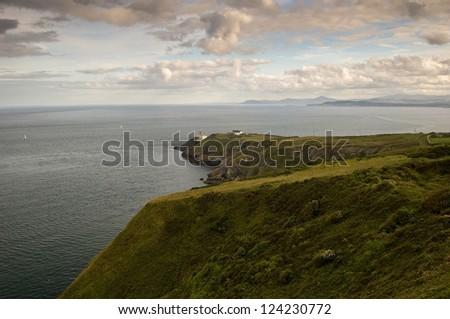 The Baily Lighthouse on Howth Head, Dublin Bay, Ireland - stock photo
