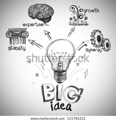 the big idea diagram - stock photo