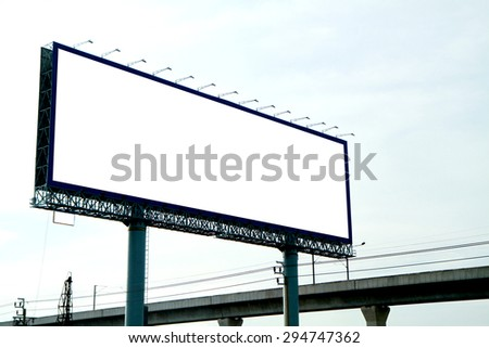 The billboard in the city