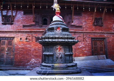 The Buddhist Golden Temple or Kwa Bahal listed as UNESCO Heritage Site in the city of Patan in Kathmandu, Nepal,