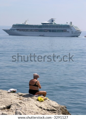 Quot Cruise Ship Bather Quot Stock Photos Royalty Free Images