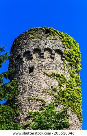 The Dilgesturm of the city wall in Hanau-Steinheim, Hesse, Rhine-Main Region, Germany - stock photo