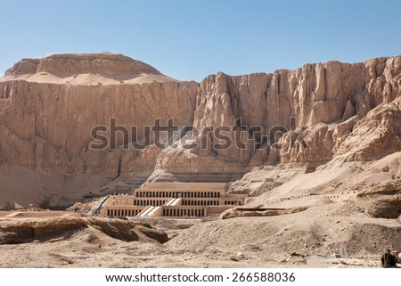 """The Great Temple Of Hatshepsut In Luxor, Egypt"" - stock photo"
