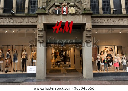 4-03-2016 The hague, Zuid-Holland: H&M shopping centre in main district of The Hague