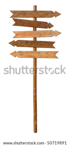 The index of directions isolated on a white background. Clipping path included. - stock photo