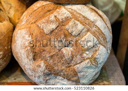 The  loaf of rustic bread traditionally roasted.