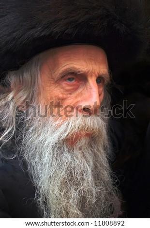 The old rabbi. - stock photo