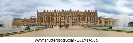 the Palace de Versailles, France - stock photo