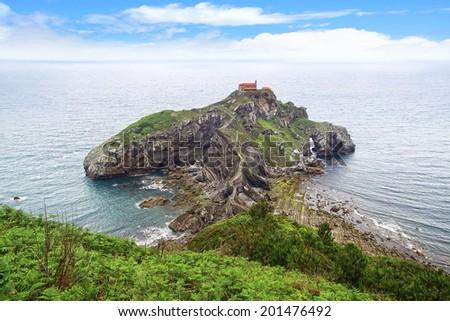 The San Juan de Gaztelugatxe. Basque Country, Spain. - stock photo