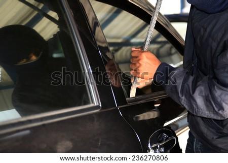 thief a car - stock photo