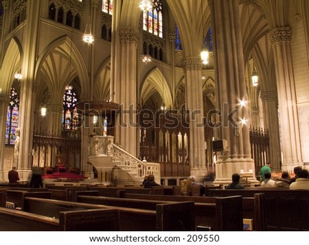 This is a view of the inside of St. Patrick's Cathedral.