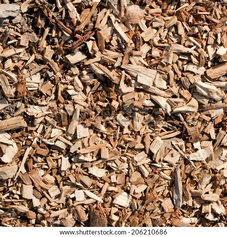 tiling woodchips for landscaping background.