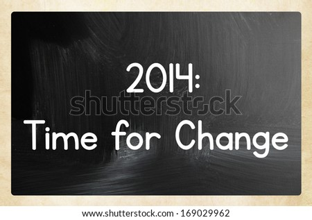 2014: time for change - stock photo