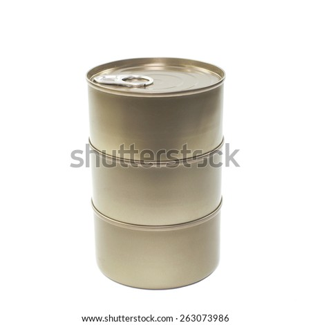 tin can on a white background. - stock photo