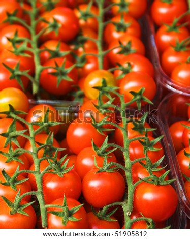 Tomatoes in a street market - stock photo