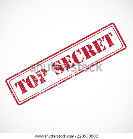 """""""Top secret"""" - rubber stamp isolated on white background. - stock photo"""