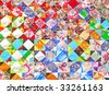 traditional russian patchwork background - stock photo