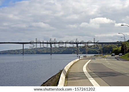 Traffic road and bridge  - stock photo
