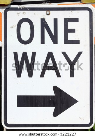 """traffic sign"" series "" one way ---->"""