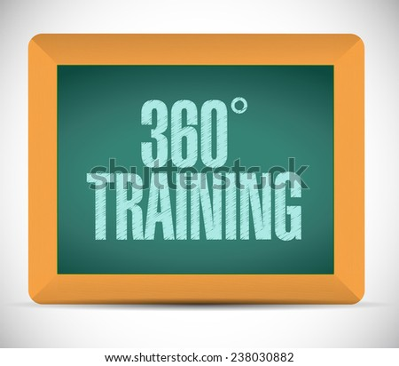 360 training board sign illustration design over a white background - stock photo