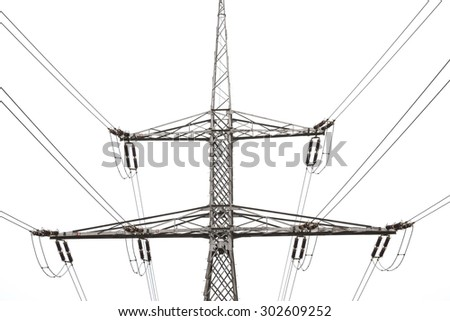 transmission lines tower - isolated