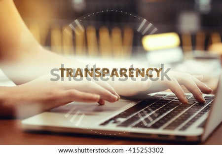 """ Transparency "" Internet Data Technology Concept - stock photo"