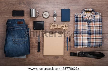 Travel background. Overhead view - stock photo